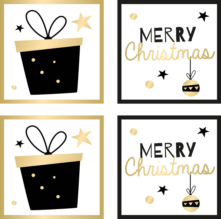 TenStickers. Elegant gift box pattern drink coaster. Elegant gift box pattern drink coaster. A lovely Christmas drink coaster for home, bars and restaurants. Made of high quality and easy to maintain.