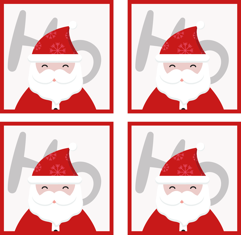 TenStickers. Santa Claus and HoHoHo drink coaster. Santa Claus and HoHoHo drink coaster. It is easy to maintain and made of high quality material. Available in different pack sets.