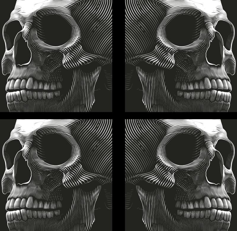 TenStickers. 原始的万圣节饮料过山车. 原始的万圣节饮料过山车。该设计采用了一个吓人的大骨架头骨,使产品的整个背景表面都呈现出来。