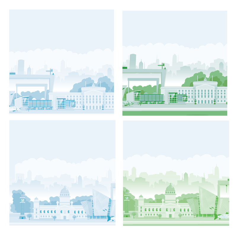 TenStickers. Belfast skyline more coasters. Lovely design of drink coaster. The design is a city skyline depicting Belfast showing it beautiful attraction buildings.