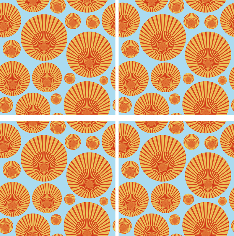 TenStickers. 70's sunshine 70s coaster set. Vintage 70s themed coaster set to provide great protection to your surfaces. Amazing discounts are available online today.