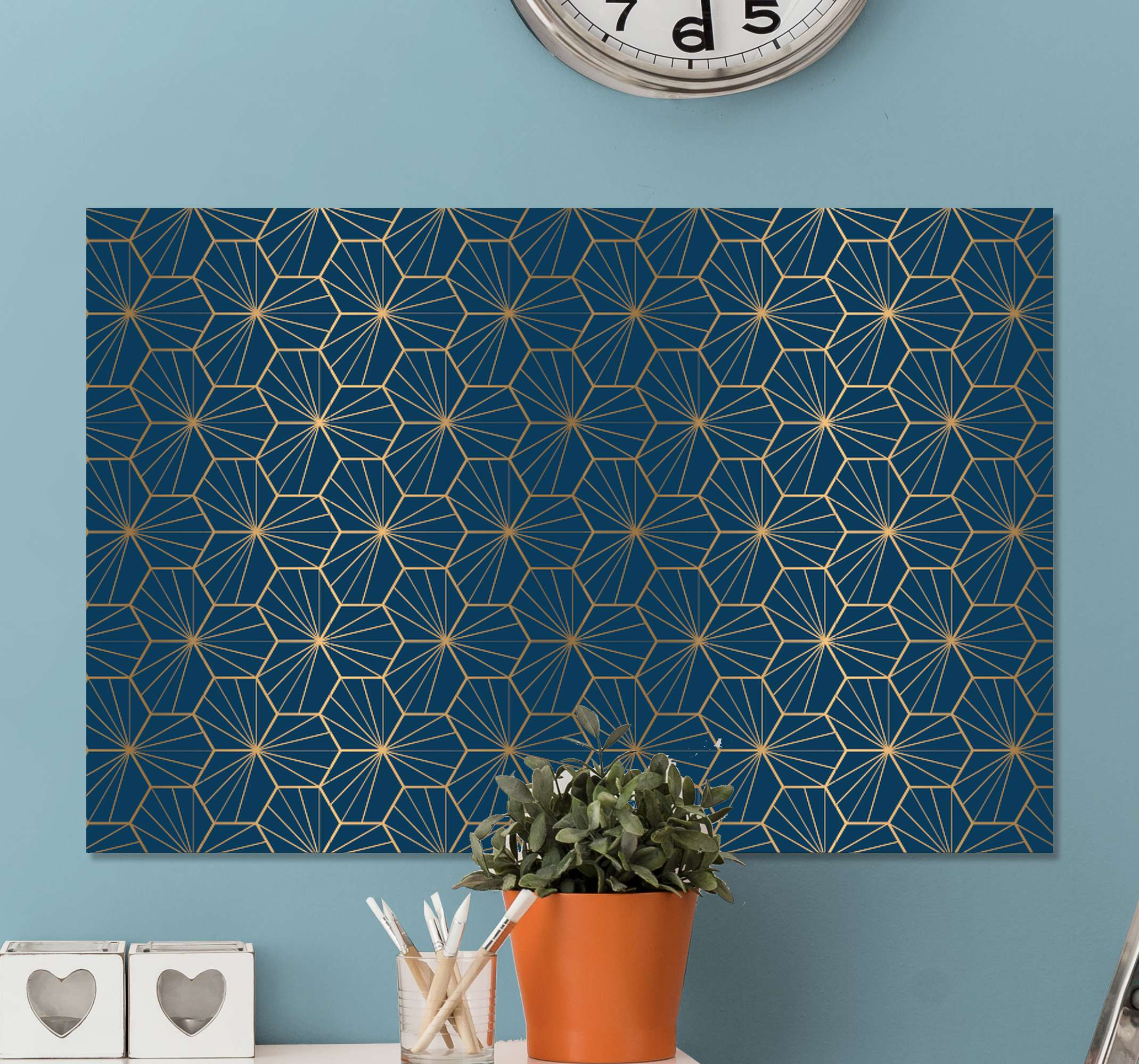 TenStickers. elegant geometric pattern modern art prints on canvas. Geometric canvas wall art to add and elegant and modern touch to the walls of your home. Extremely long-lasting material.