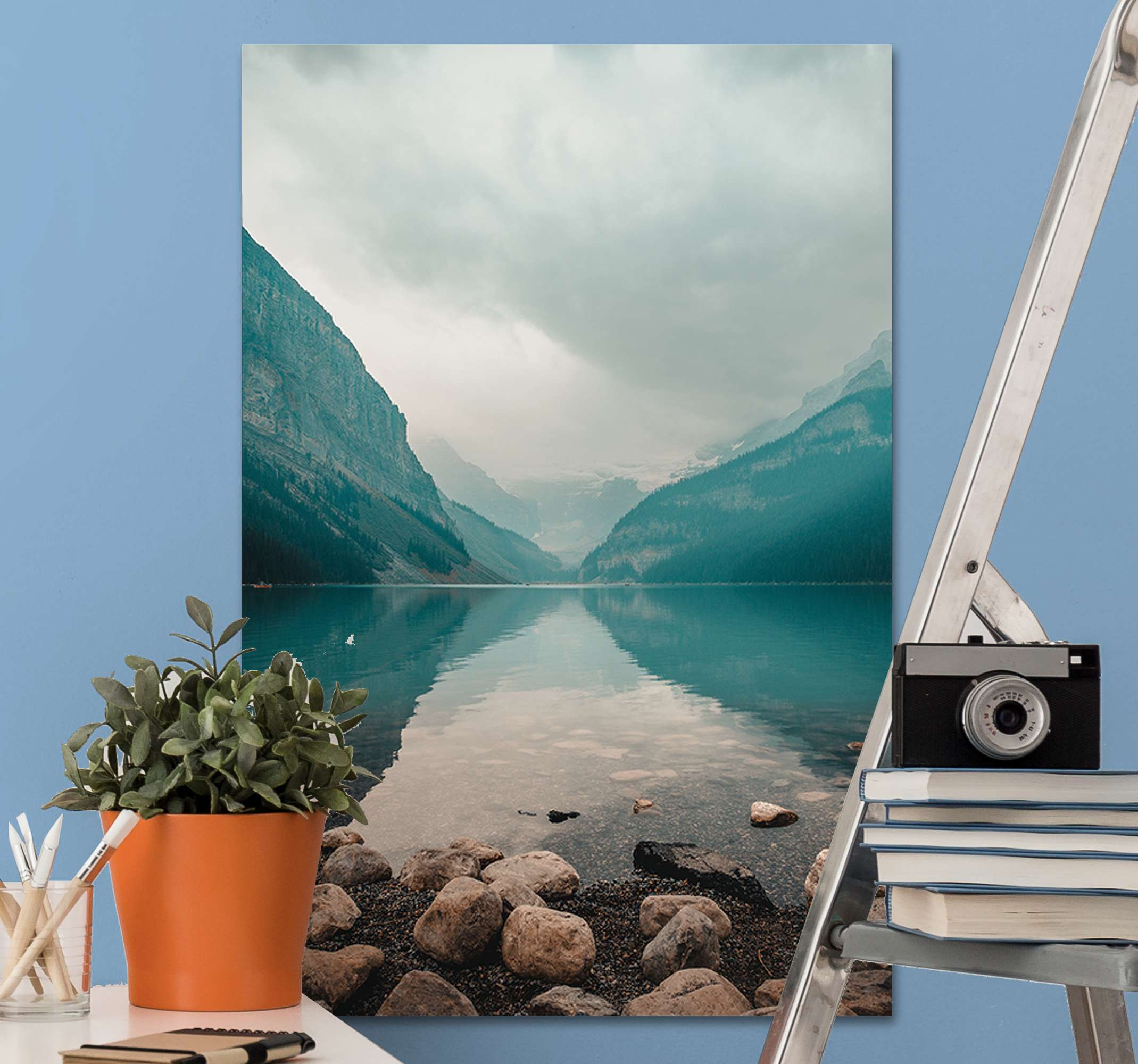 TenStickers. Peaceful water landscape canvas wall art. Am amazing peaceful water landscape canvas to decorate your home. We give you the best at very affordable price so you can personalize your space.