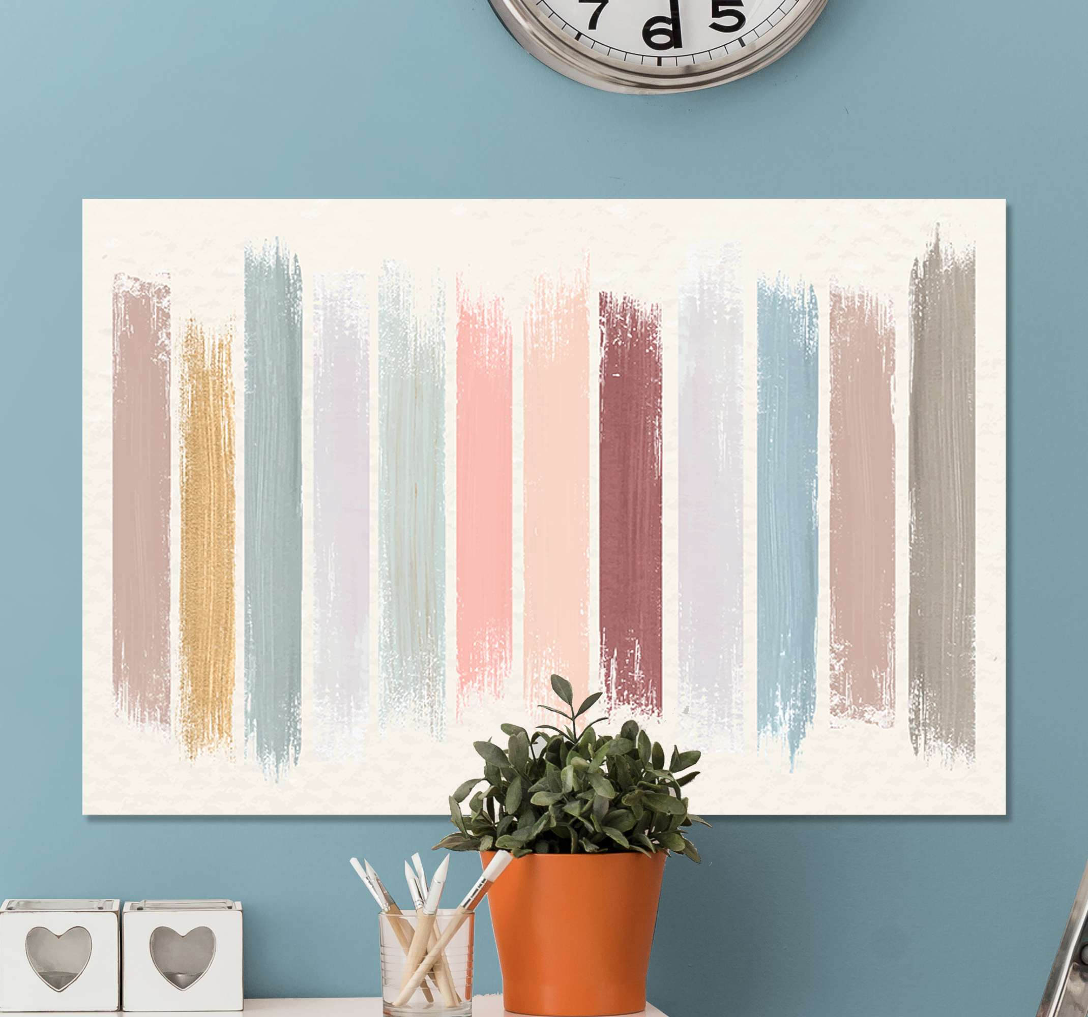 TenStickers. Colorful painting  canvas art. Simple decorative canvas artwork with design imitating paint colour samples. Lovely design to decorate any part of your home, it original and durable.