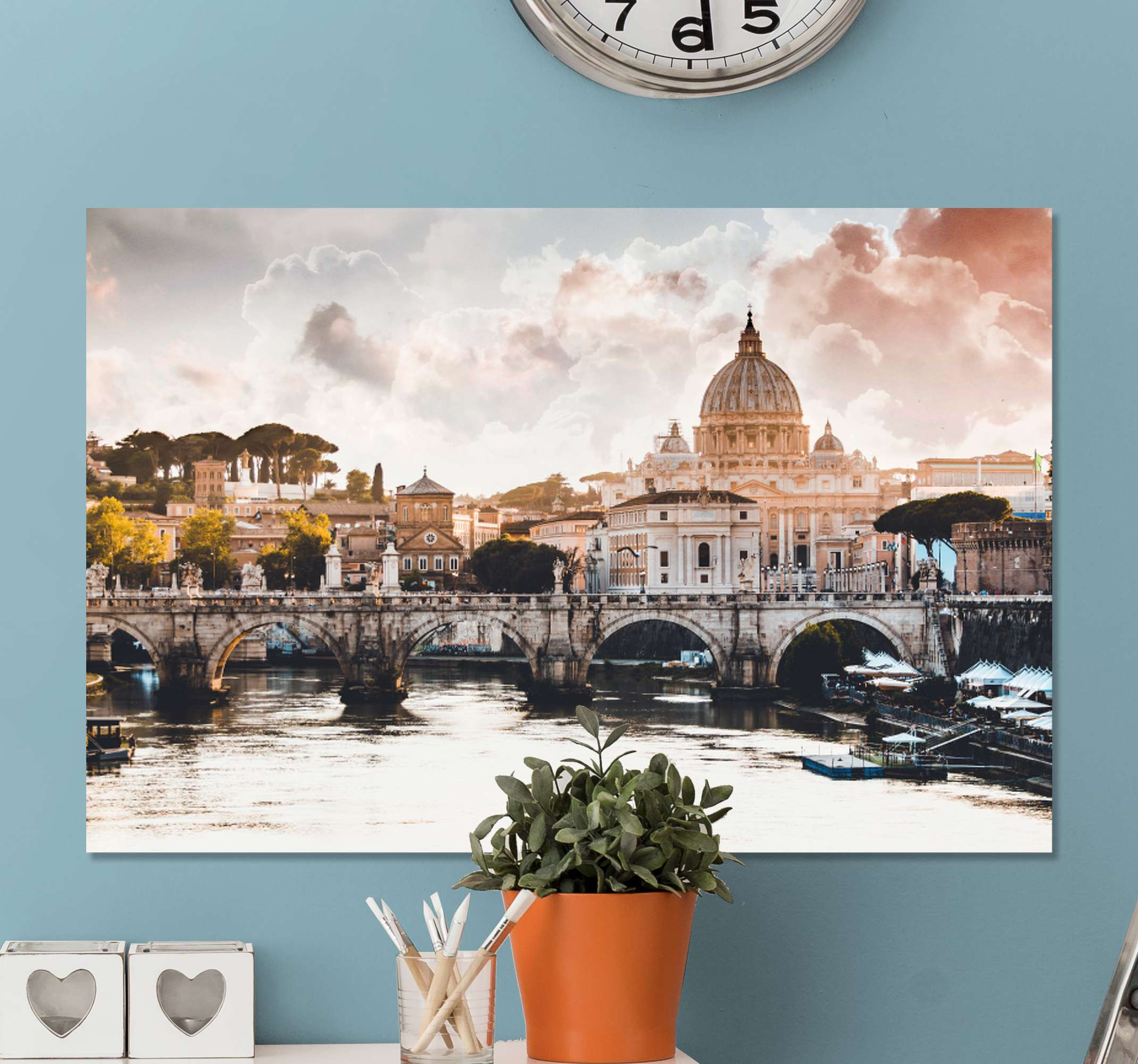 TenStickers. the vatican city at the heart of rome City skyline prints. Buy this magnificent canvas wall art for living room of Rome this ancient city and let its beauty touch you.. Home delivery!