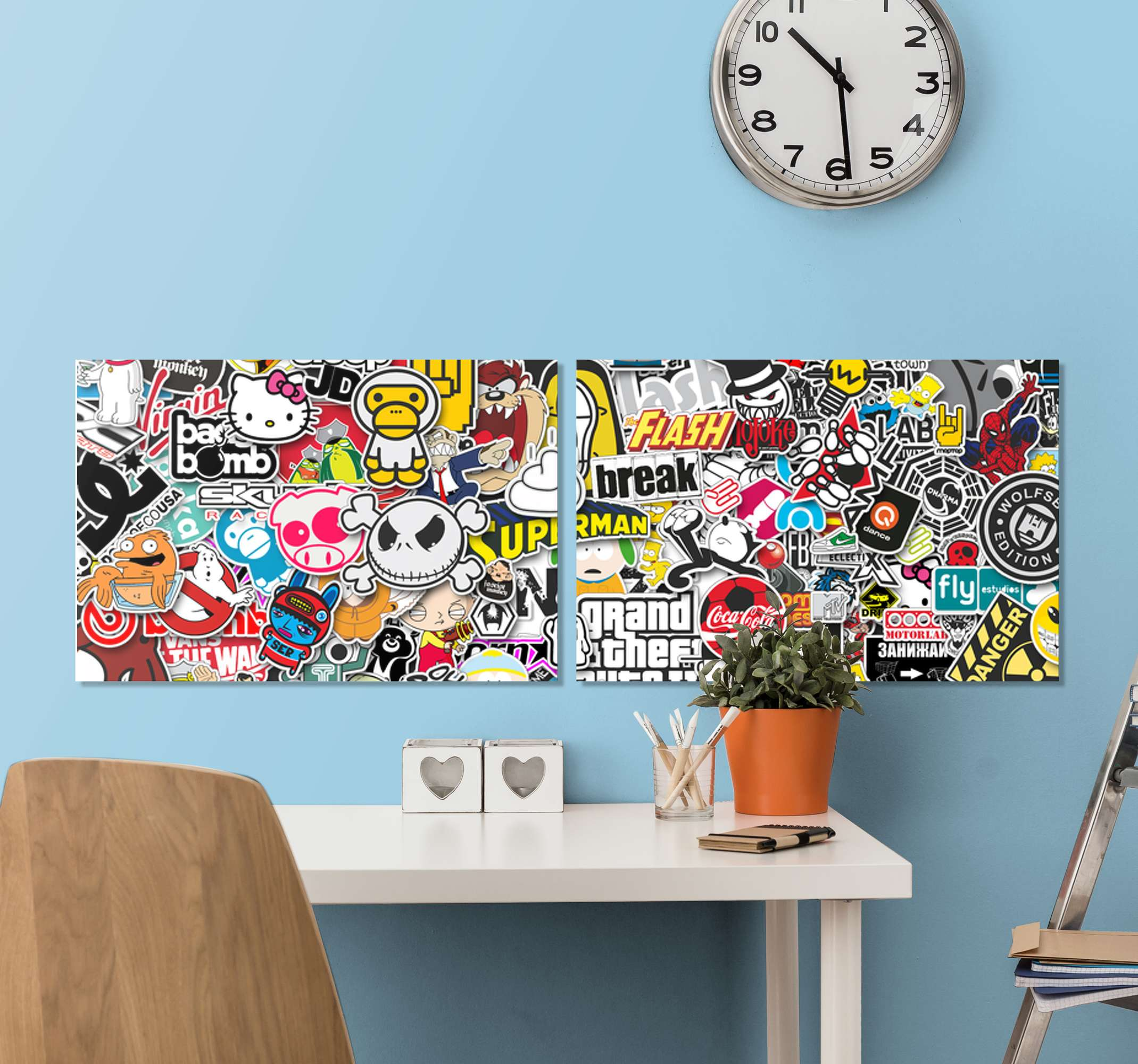 TenStickers. bomb Canvas Print modern art prints on canvas. This canvas  will fit perfectly with any decor in your room. It will impress your familly and friends! order now! Home delivery !