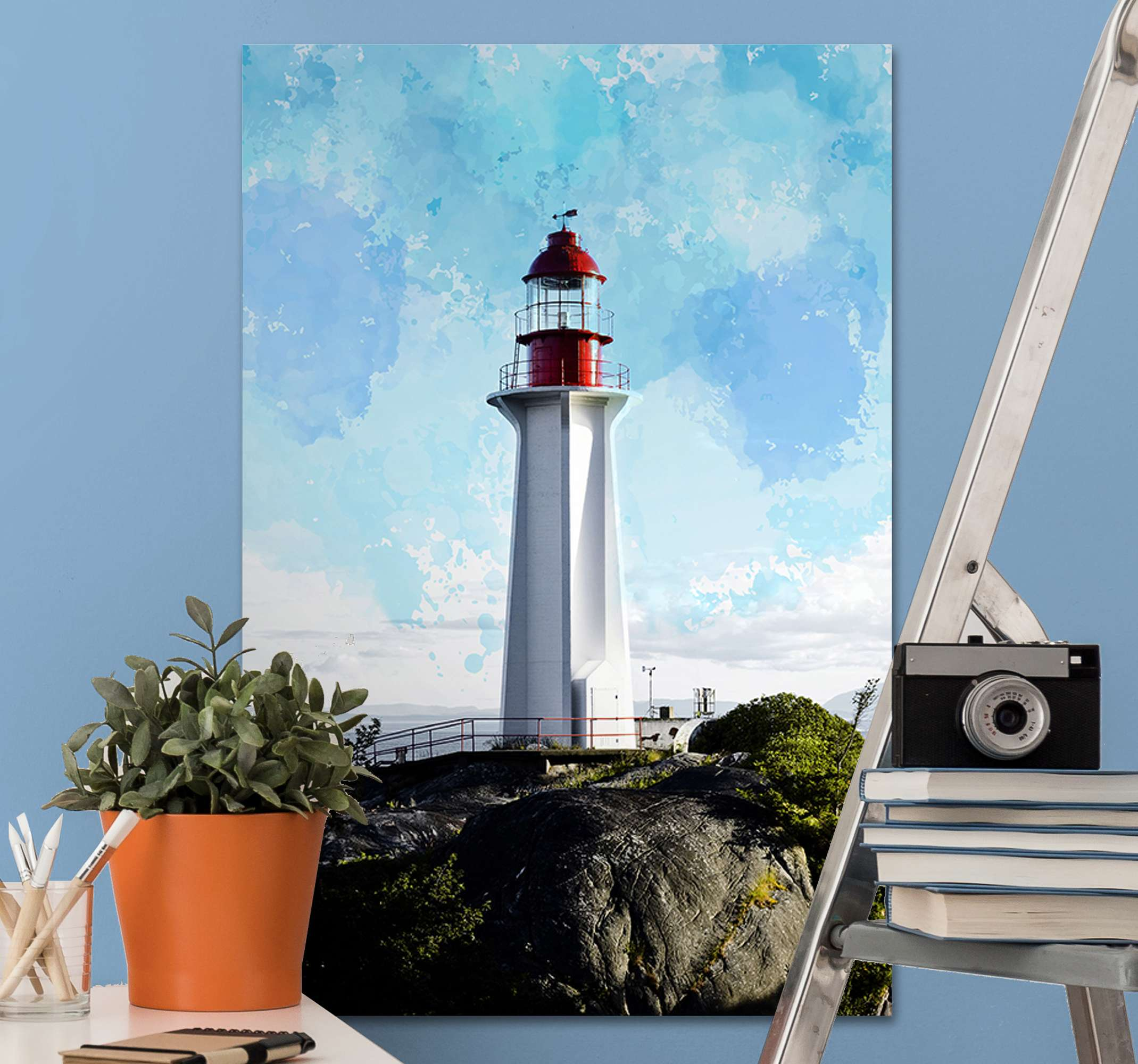 TenStickers. faro Nautical canvas wall art. This Canvas will give to your room a unique and modern look.  Don't wait any longer and order your favorite design now! Home delivery!
