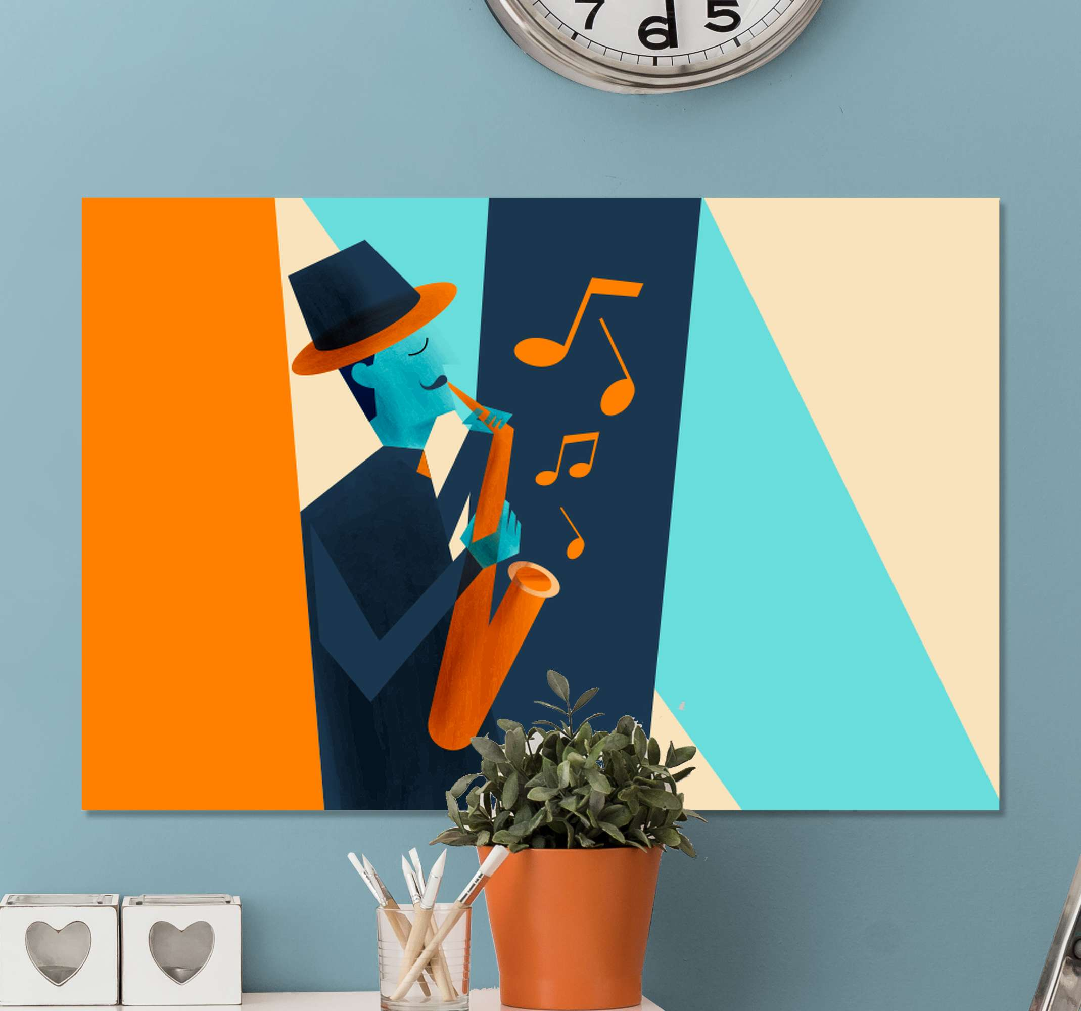 TenStickers. Music concepts Music canvas wall art. Music concepts canvas art to decorate your home with  touch of musical experience. It is printed in high quality finish and it is resistant to UV.