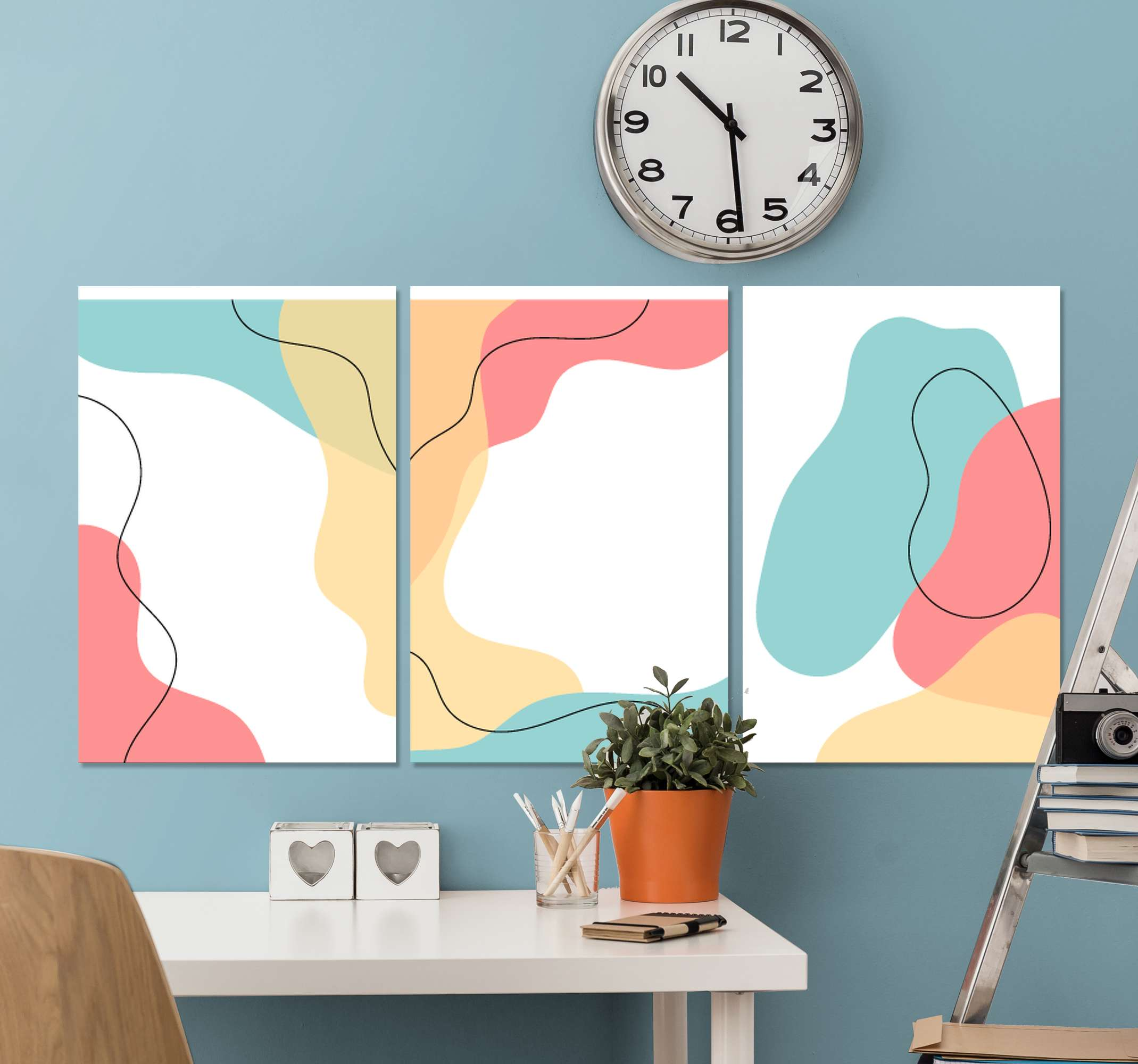 TenStickers. Nordic Scandinavian canvas art print. Redecorate your space with a lovely and adorable effective appearance with this abstract Nordic Scandinavian canvas prints.