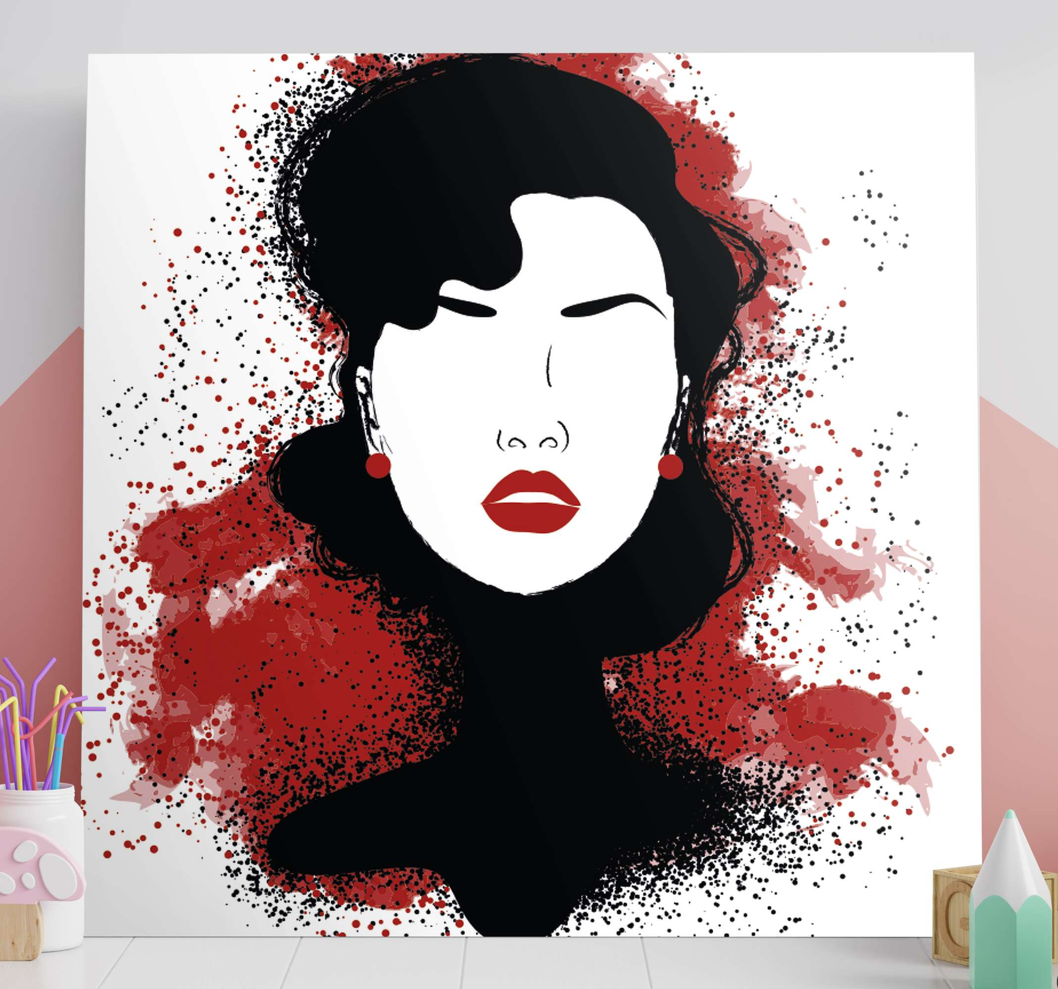 TenStickers. Modern women modern art prints on canvas. Modern women modern canvas wall art for aesthetic art lovers. The design can be customized in the colour effect you want. Quality finish and durable.