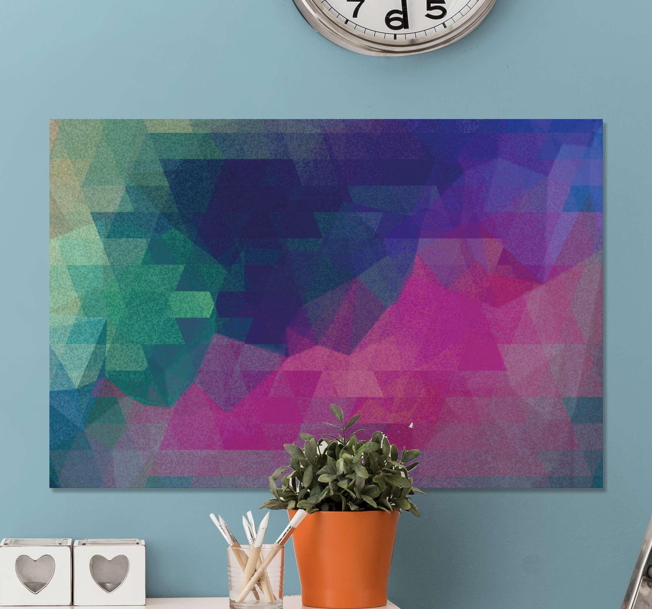 TenStickers. 马赛克抽象彩色照片马赛克帆布. 该办公室画布墙艺术可以放置在您房屋的任何区域。用这张画布打动您的朋友和家人!送货上门 !