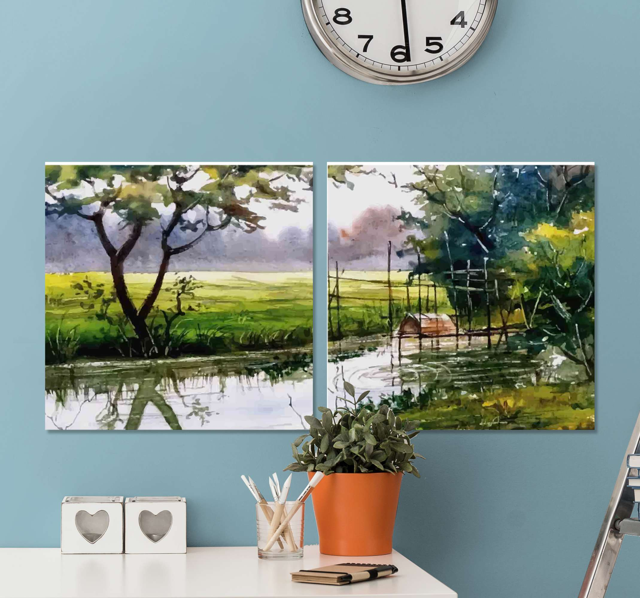 TenStickers. Natural landscape canvas wall art. Natural landscape canvas print to decorate any part of your home. You would love this canvas on your space and it is original and durable.