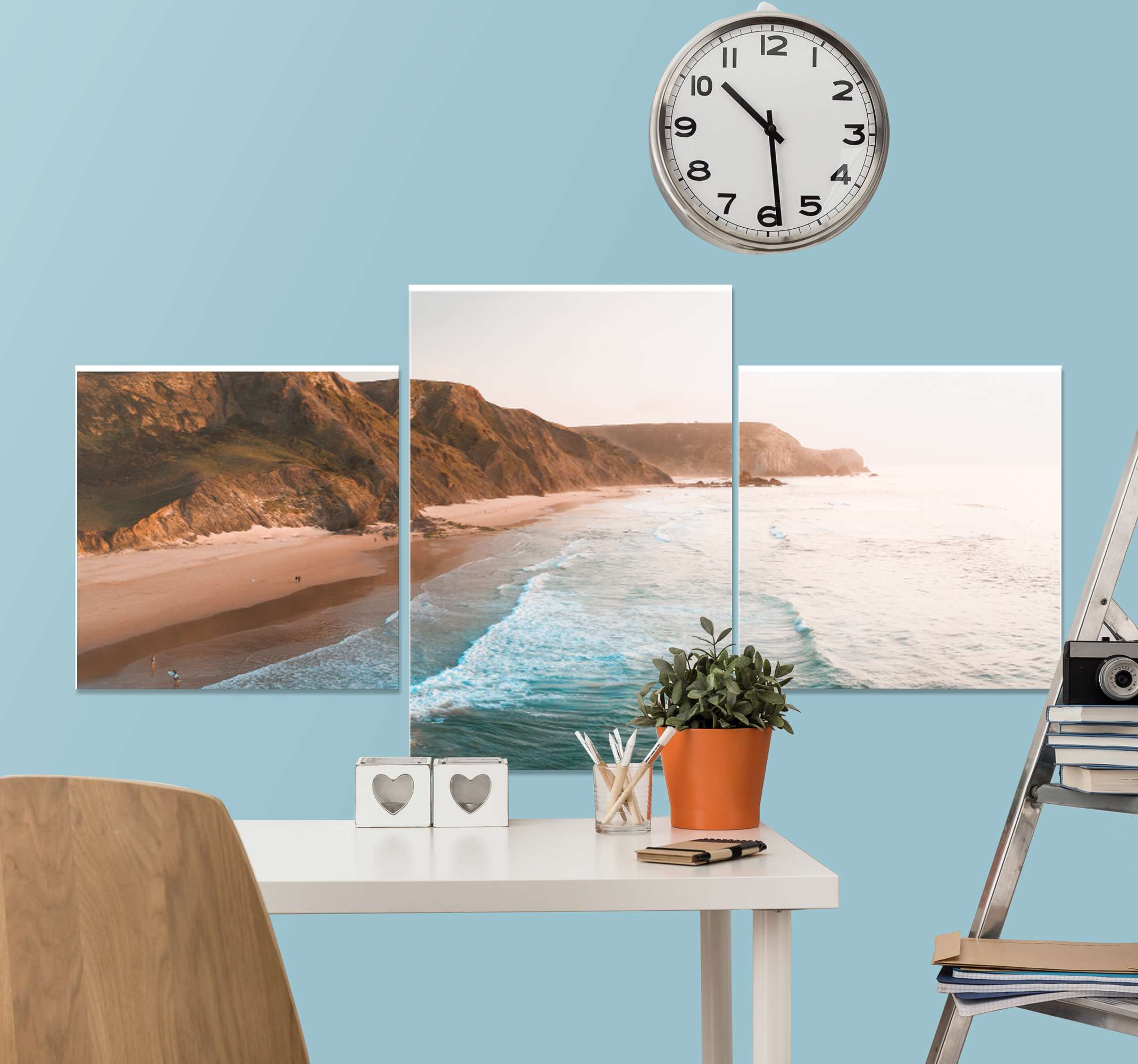 TenStickers. Coast landscape landscape wall art. Decorate your home with these lovely piece of coast landscape canvas and be amazed with the look on your space.  It is printed in high quality finish.