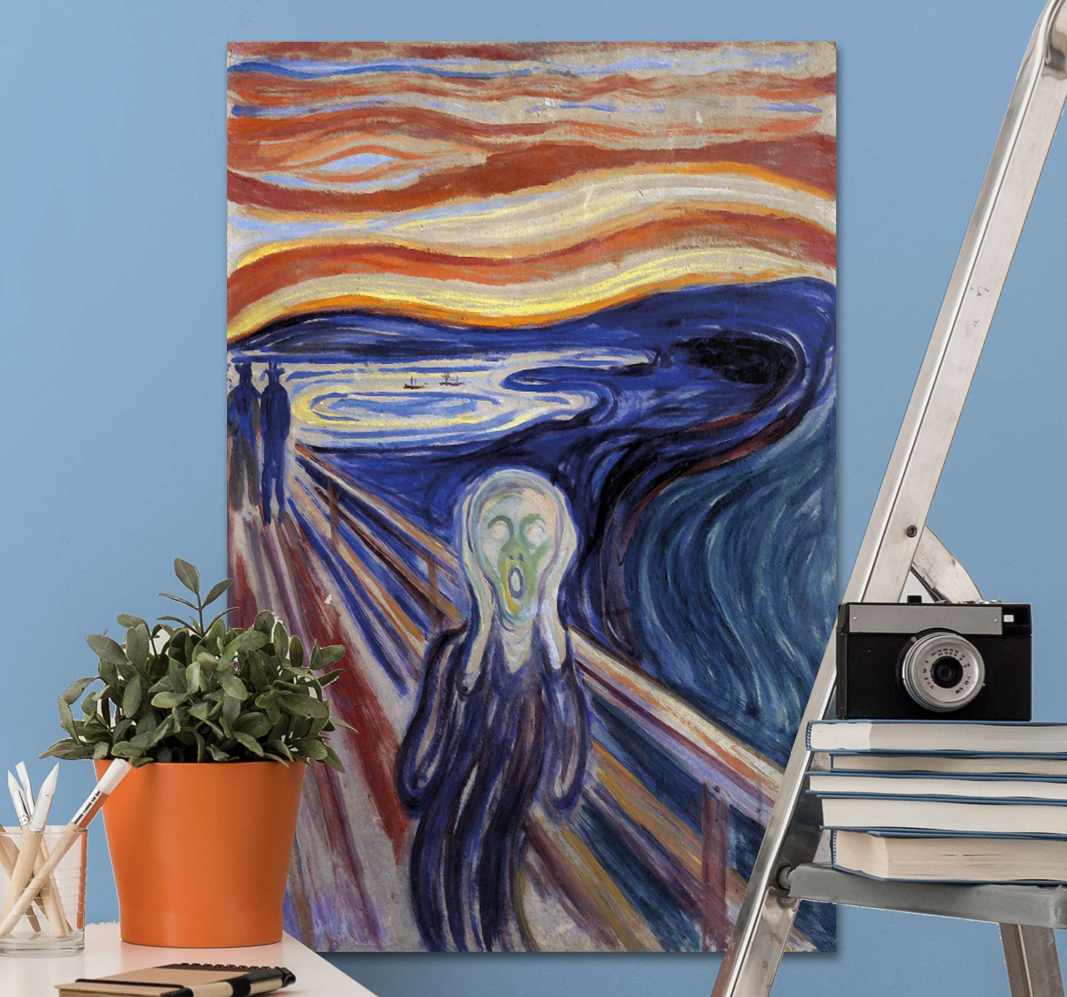 "TenStickers. Personas Van Gogh people and character canvas prints. Canvas print with Van Gogh's ""Scream"". Printed on high quality material. Easy to hang, delivered right to your door. Check it out!"