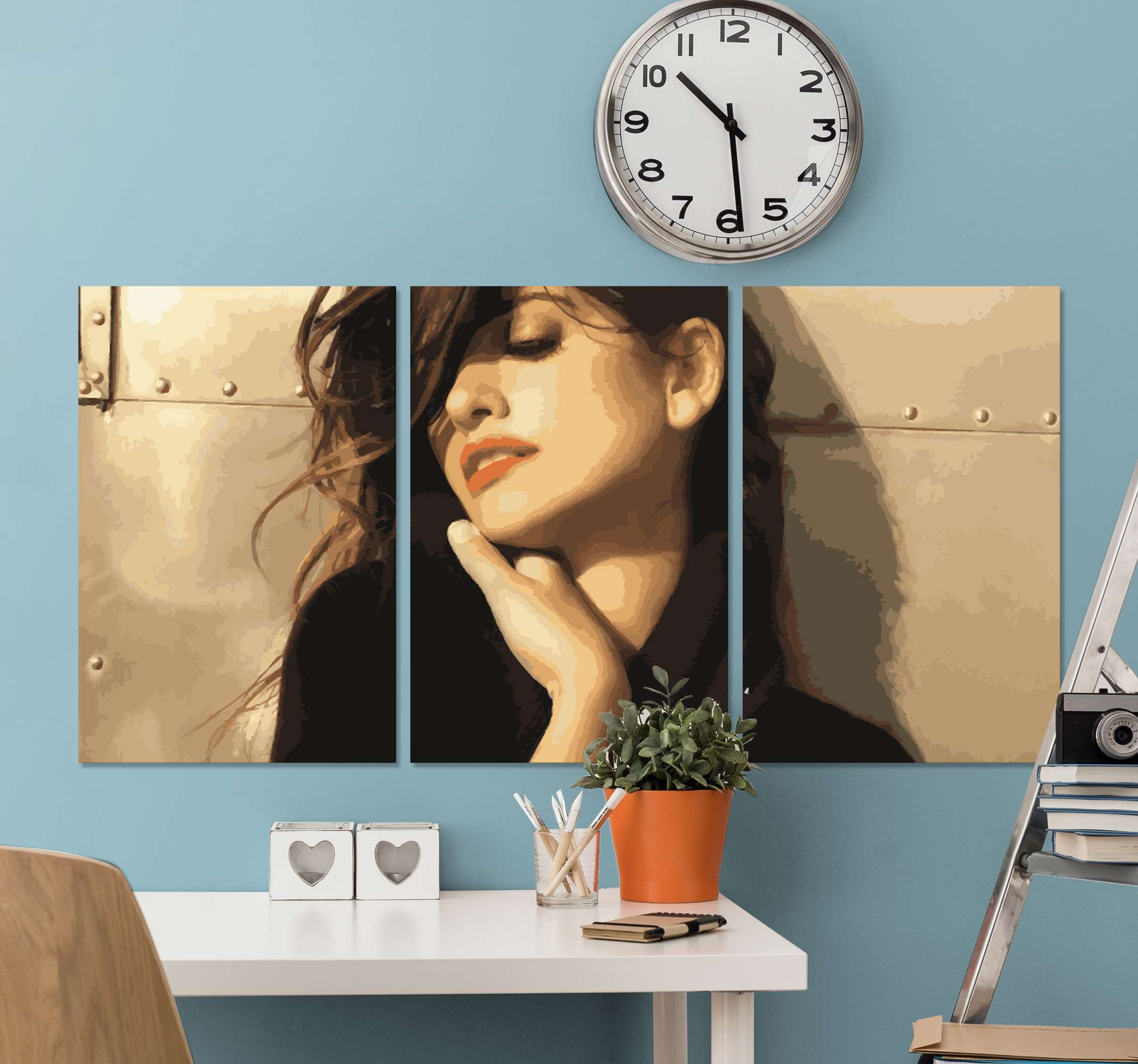 TenStickers. Personajes Penélope Cruz character canvas. This Penélope Cruz canvas is easily hung on a wall but you can also place it on a drawer or a shelf. Order now! Home delivery!