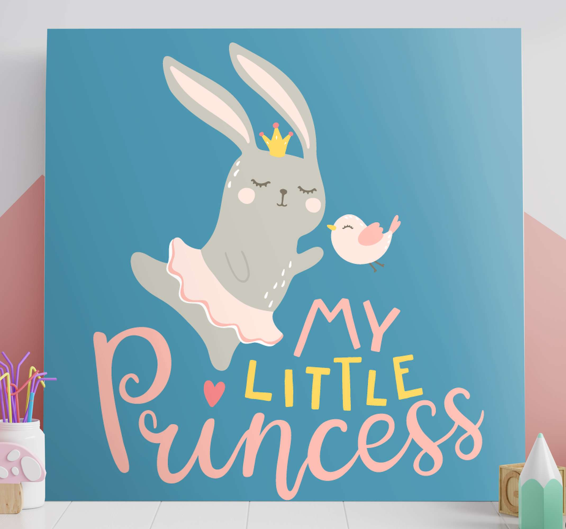 TenStickers. bebe conejo frase mi princesa wall pictures for nursery. Adorable animal inspired nursery canvas art that your little one will love. Sign up today for 10% off your first order with us.
