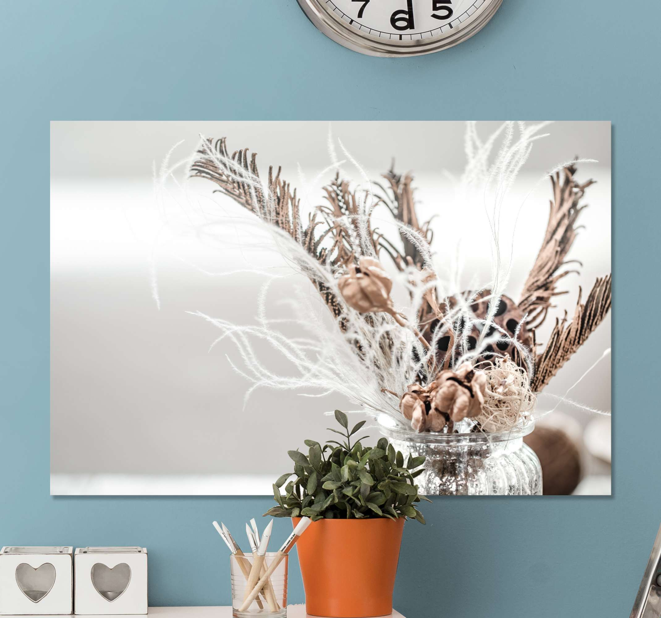 TenStickers. White Flower  fruit canvas art. A stunning flower canvas print to modernise your home with! Sing up today to receive 10% off the first order you place with us.