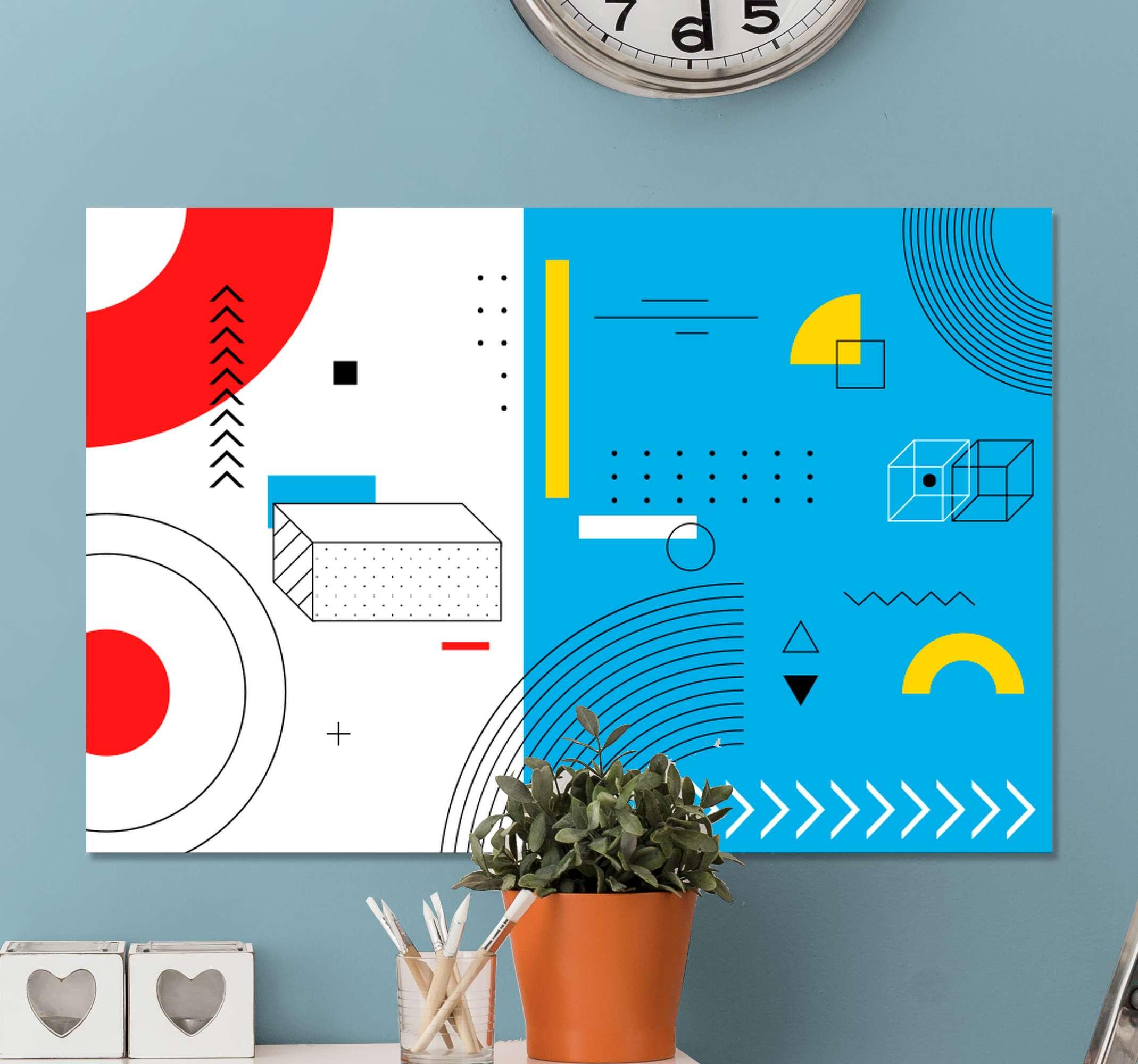 TenStickers. Elegantes lineas abstractas sofisticirani otisci na platnu. Super zamršeni elegantni oblik platna na zidu koji će vas zapanjiti! S +10. 000 zadovoljnih kupaca u dobrim ste rukama.
