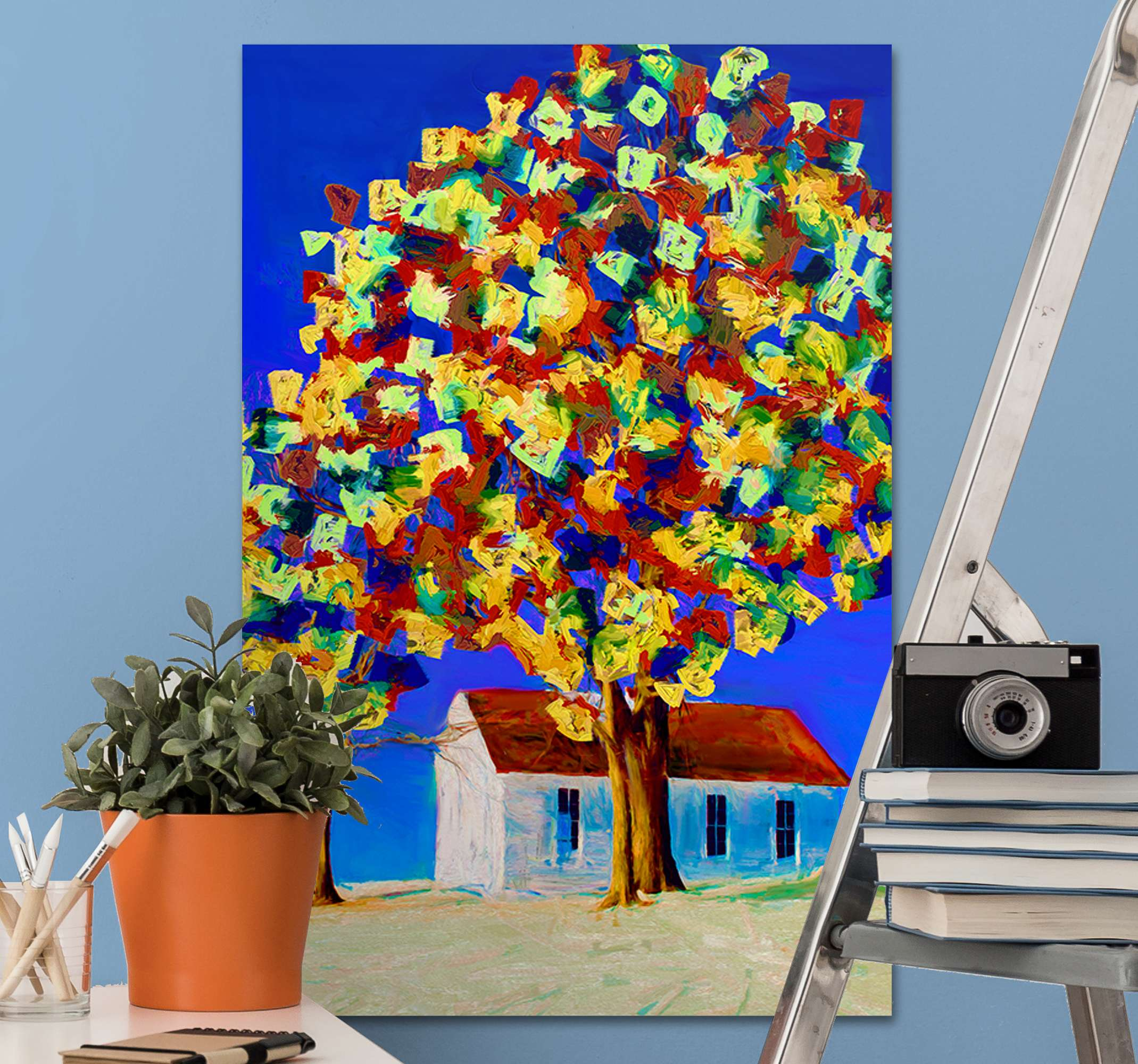 TenStickers. Spring Tree elegant canvas prints. An awesome tree canvas wall art scenery to hung up anywhere in your home. With over 10,000 satisfied customers you are in safe hands.