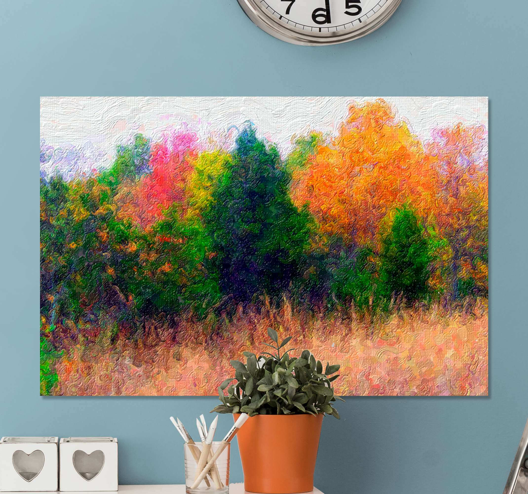 TenStickers. Autumn Tree canvas print. An outstanding landscape canvas wall art perfect for your home! Sing up online today for 10% off your first order with us.