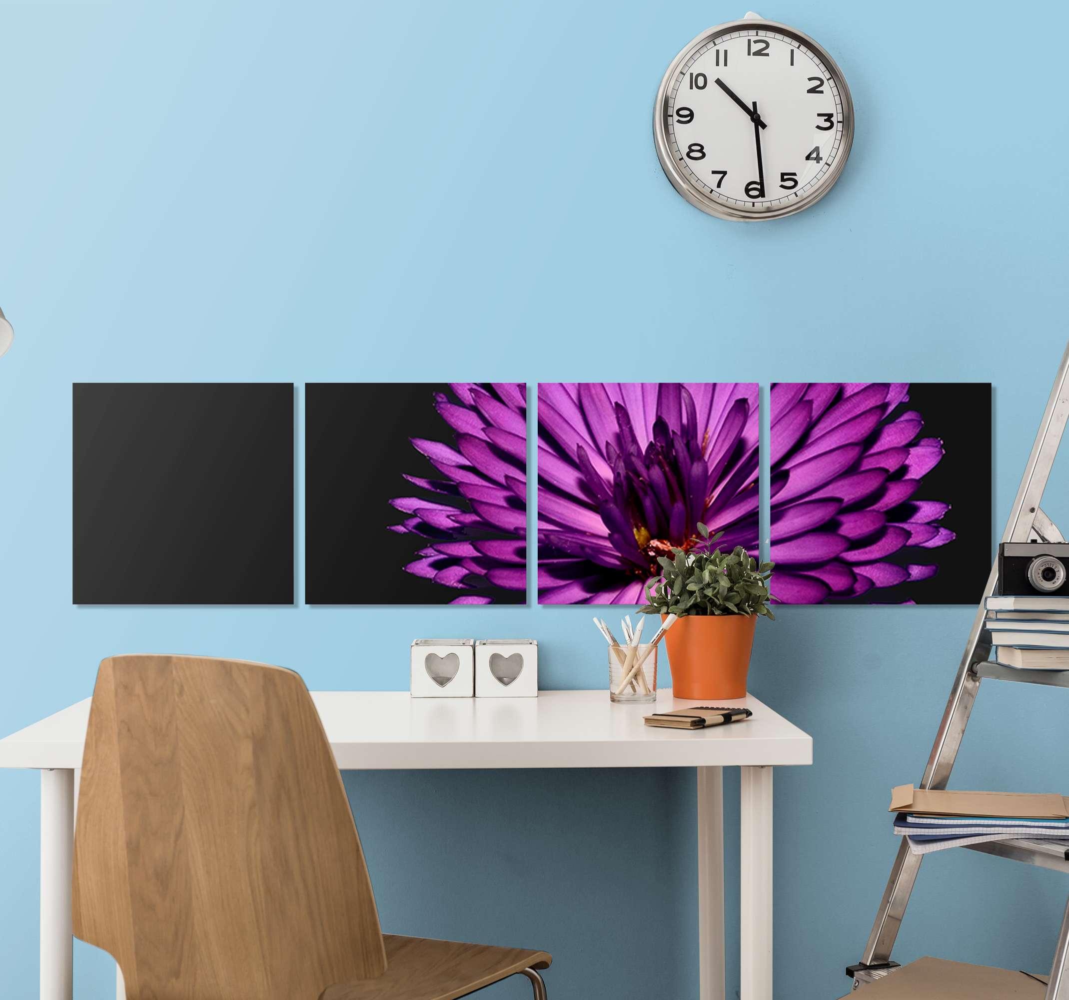 TenStickers. 현대 라일락 꽃 캔버스. 현대 라일락 꽃 벽 캔버스 아트 인쇄 가정, 사무실 및 기타 공간 장식. 원본이며 고품질 마감으로 인쇄되었습니다.