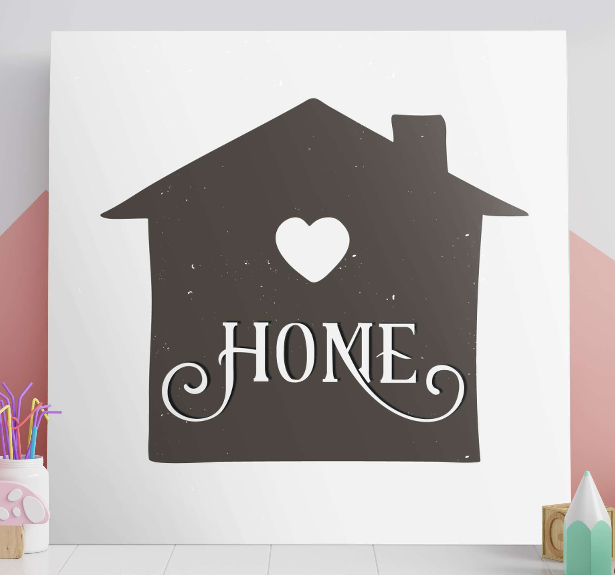 TenStickers. Rustic home rustic canvas wall art. Simple yet a beautiful home illustration canvas wall art to decorate any space of your choice. Printed in high quality finish.