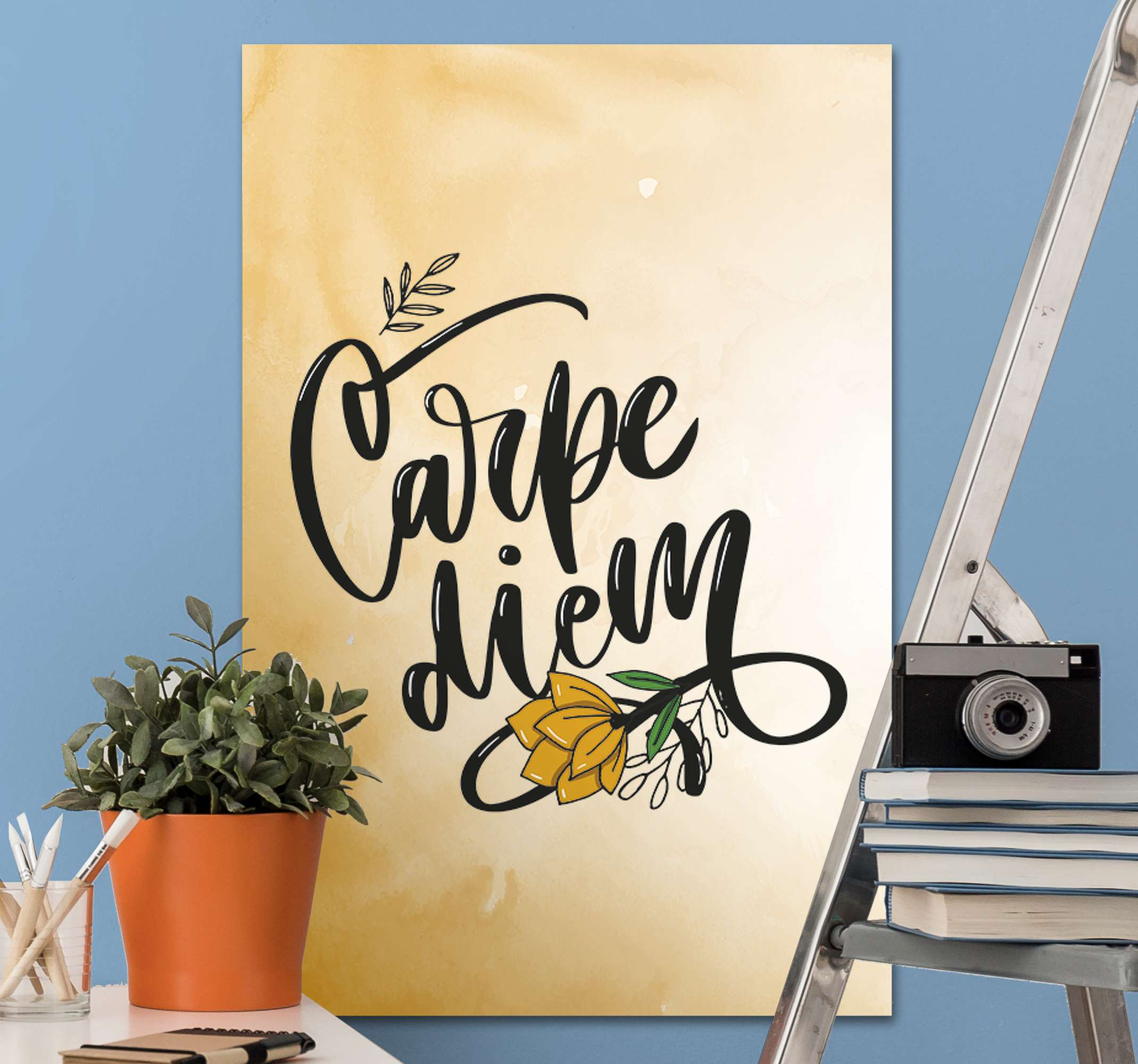 TenStickers. Carpe diem Master bedroom canvas wall art. Our Carpe diem quote canvas wall art is suitable to decorate your  home, office, lounge, business, spa, etc. Made with quality material and durable.