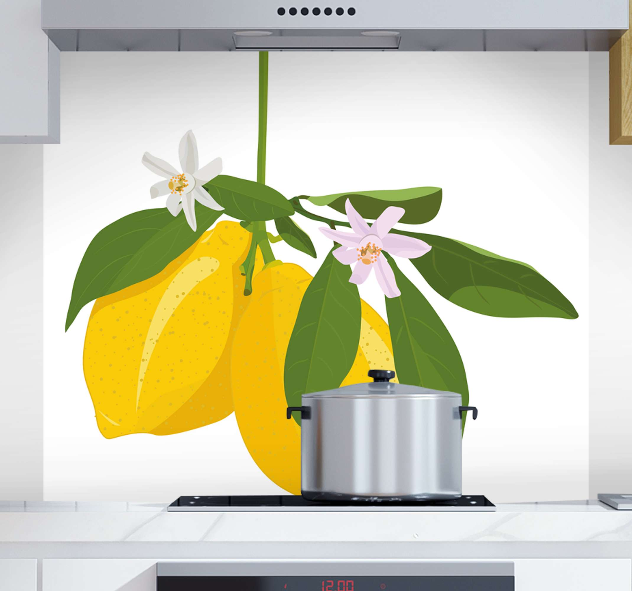 TenStickers. Lemon tree fruit canvas art. Our collection of citrus fruit canvas art would helps to bring a lovely attention of a citrus tree on your space. Made with quality material.
