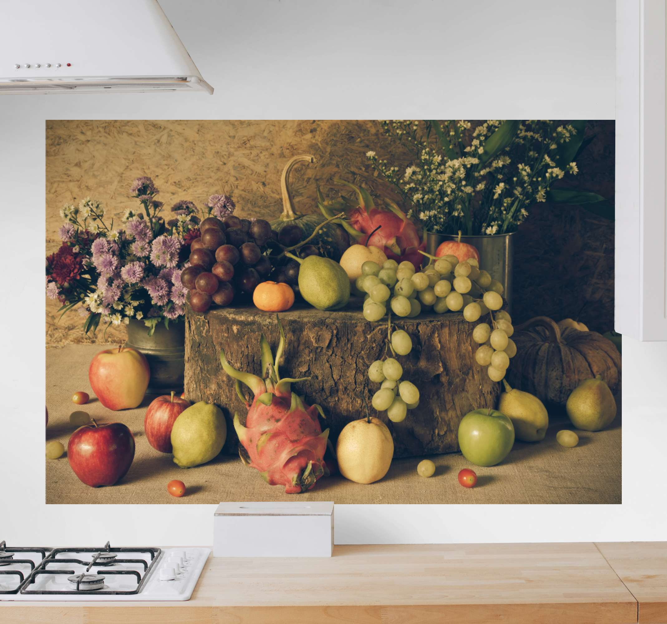 TenStickers. Different fruits Kitchen canvas art. Buy our amazing fruits canvas art for your kitchen, It contains high quality picture of different fruits illustrations. It is original and durable.