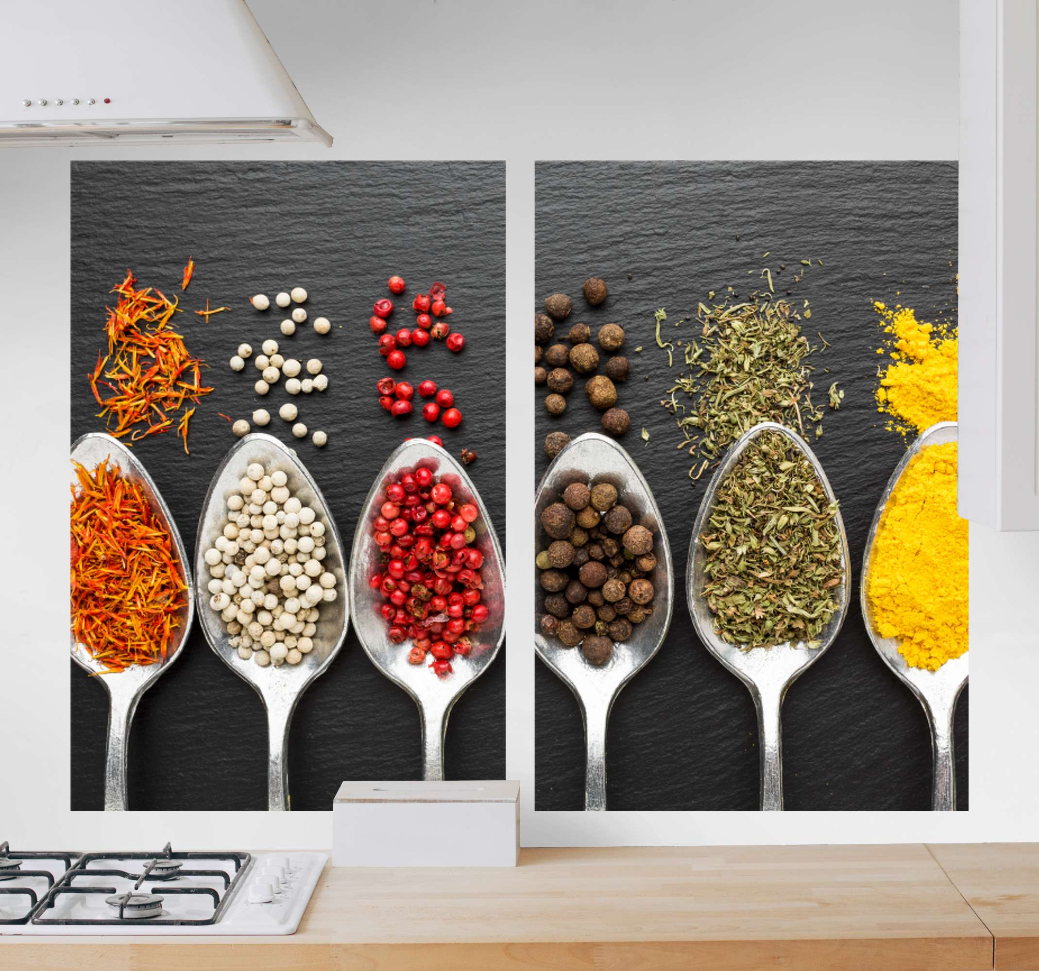 TenStickers. Species Kitchen canvas art. We got your kitchen covered with our amazing collection of different spices canvas art. The picture quality and finish is amazing.