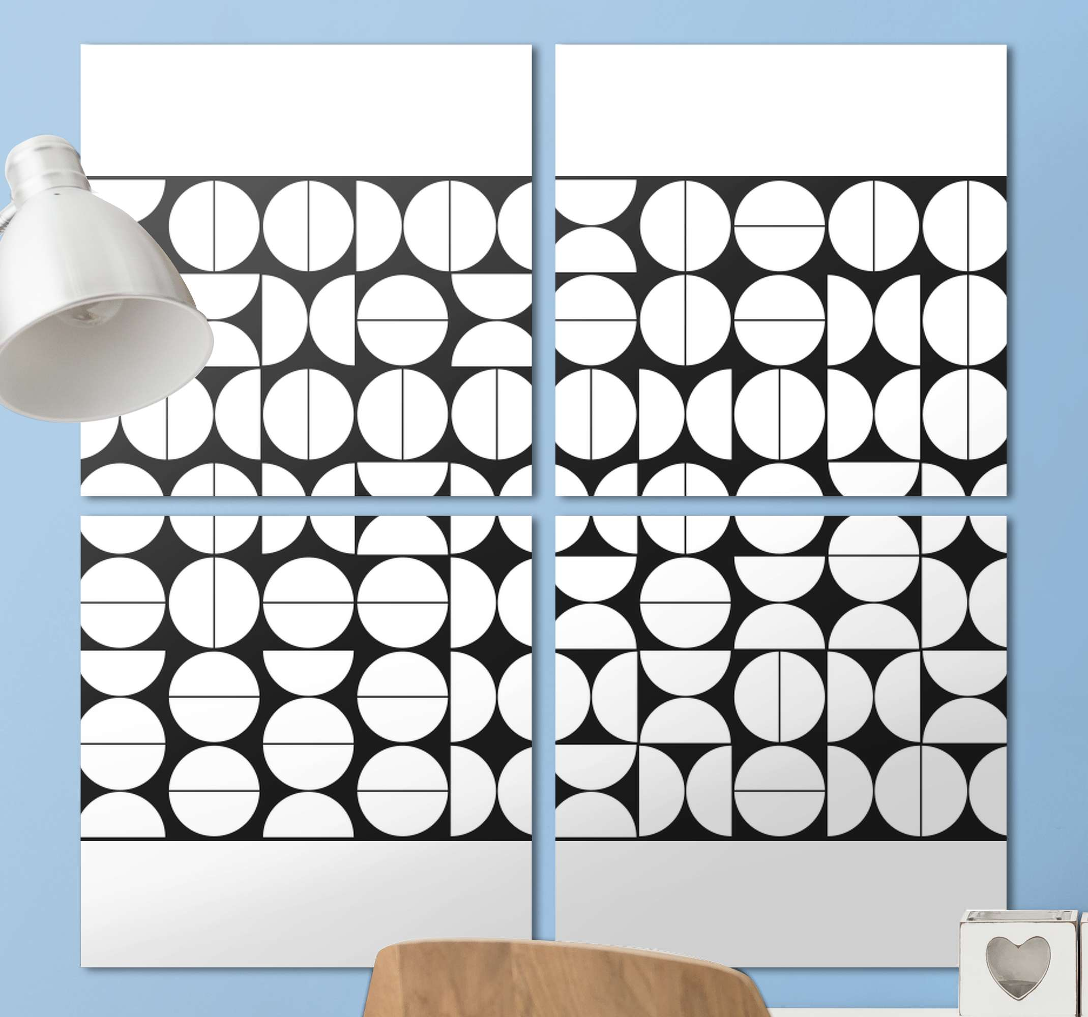 TenStickers. Abstract black and white home canvas art. Abstract black and white bedroom wall prints. It can also be decorated on other places in a house and for an office and business space.