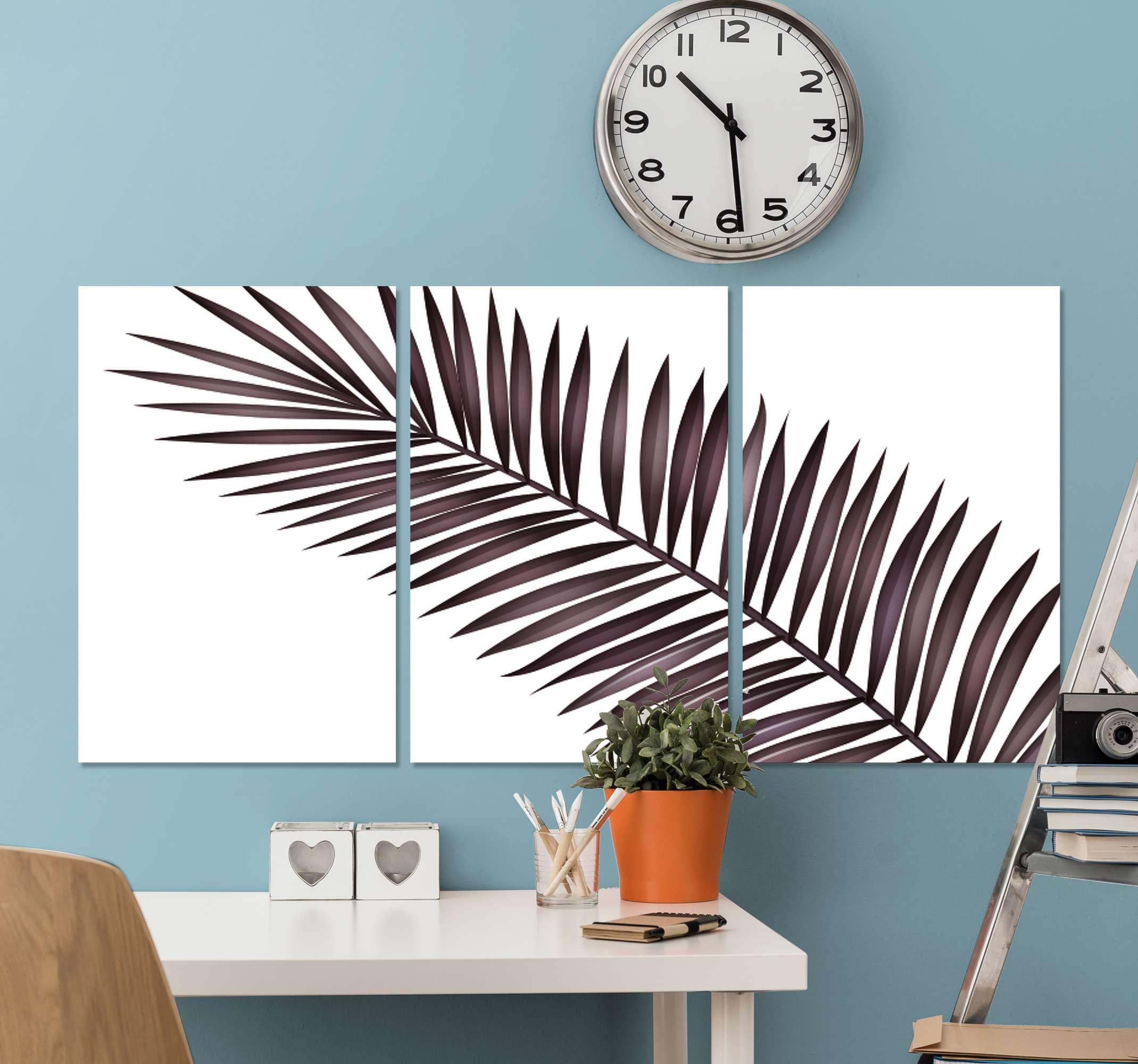 TenStickers. Palm leaves wall prints for living room. Palm leaves canvas pictures for living room - Give that elegant look on your home space or any other space with our canvas.