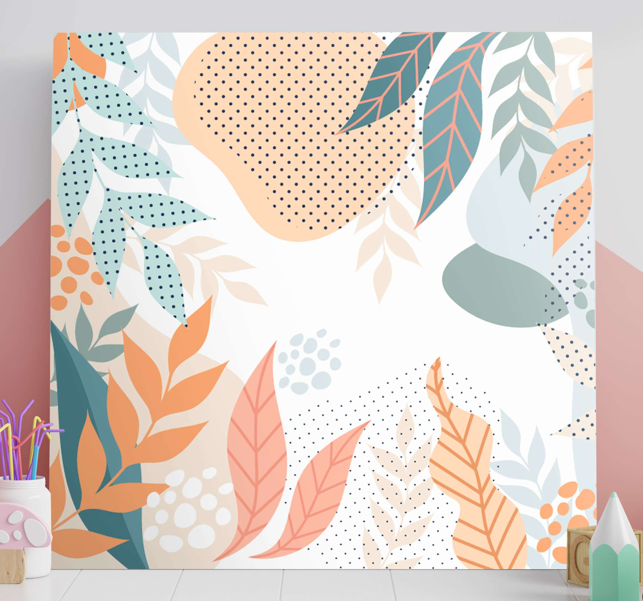 TenStickers. Abstract flowers Hall canvas prints. If you are looking for something simple with a flower design then this abstract flower canvas art got you covered. Original, fadeproof and durable.