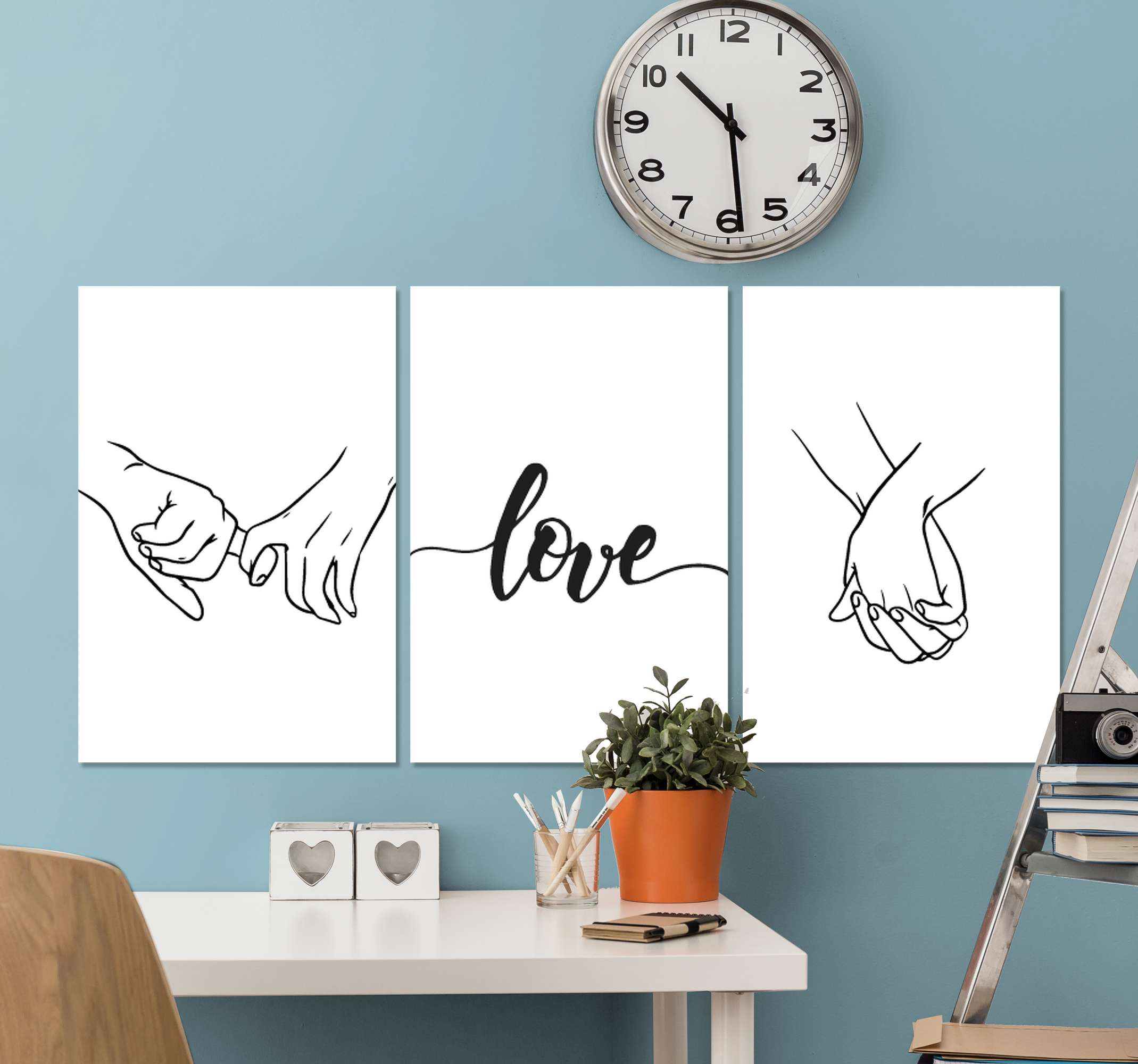 TenStickers. Love hands headboard wall art canvas. This love hands canvas print would be a great idea to hang on couple's bedroom as a headboard canvas print. Original and durable.