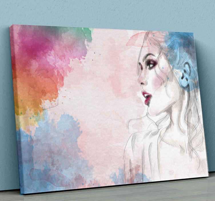 TenStickers. Woman figure canvas art. Woman figure canvas art prints. This canvas can be decorated on any part of a house. High quality home canvas artwork print of a woman sketch.