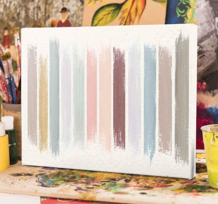 TenStickers. 彩色绘画画布艺术. 简单的装饰画布艺术品,其设计模仿了油漆颜色样本。可爱的设计可以装饰房屋的任何部分,既原始又耐用。