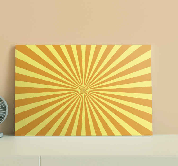 TenStickers. Abstract sunset with orange tones 70's canvas wall art. Abstract sunset with orange tones 70's canvas. Suitable canvas for home, office, etc, it is printed with high quality finish.