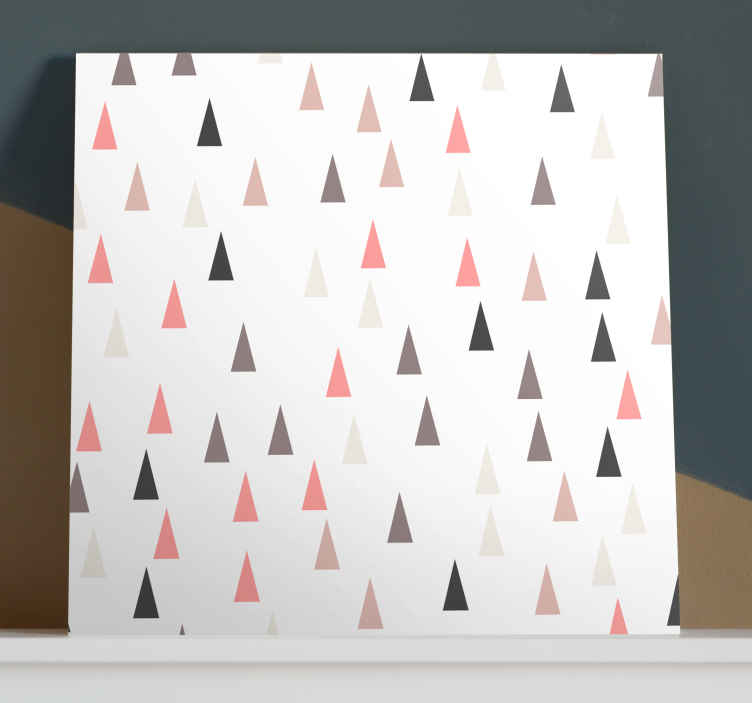 TenStickers. Triangle pattern nordic canvas art. Add this wonderful home canvas wall art to your cart now and enjoy this wonderful canvas. Impress your familly and friend! Home delivery !