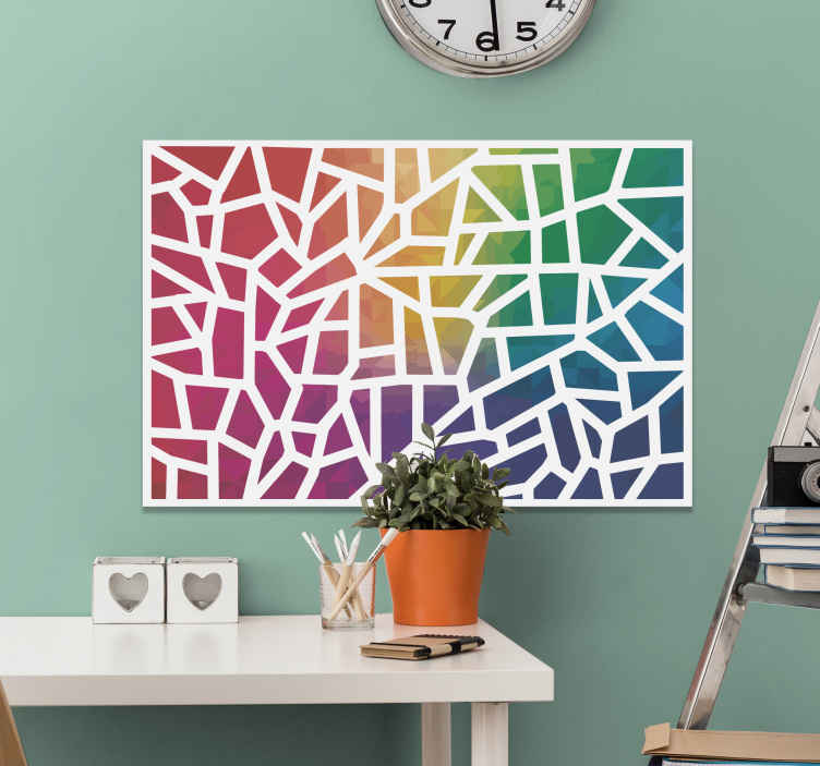 TenStickers. mosaico de colores photo mosaic canvas. A mosaic canvas print featuring all the colours of the rainbow just for you! Sign up on our website for 10% off your first order.