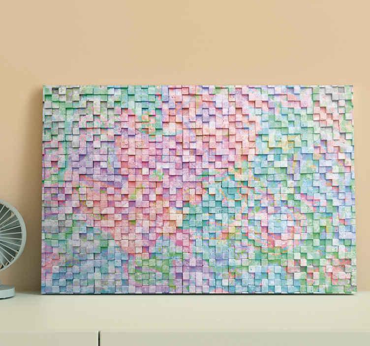 Tenstickers. štvorcové farebné mozaikové plátno. Kúpte si túto neuveriteľnú mozaikovú tlač na plátno s rôznymi farbami a aktualizujte svoje steny ešte dnes! Zľavy k dispozícii.