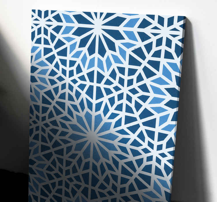 TenStickers. Arabic Blue mosaic canvas. This home canvas prints can be placed on any area of a house. Impress your friend and familly with this canvas ! Home delivery !
