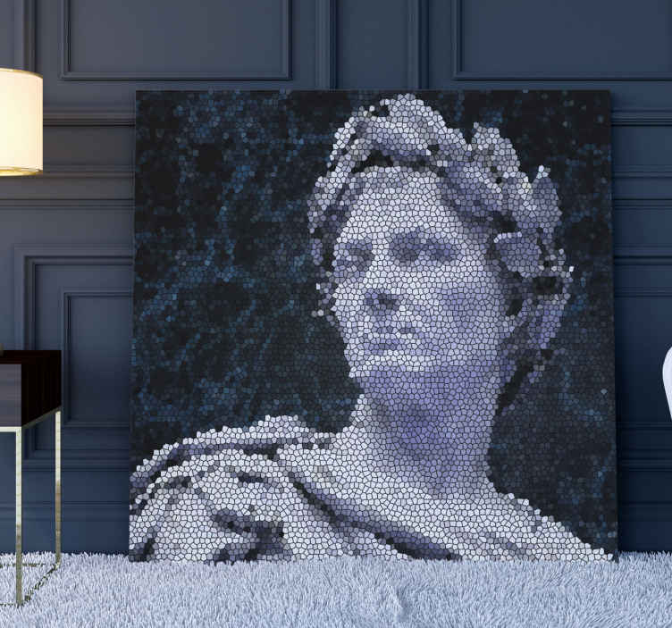 TenStickers. mosaico romano antiguo  photo mosaic canvas. Immerse yourself in the ancient Roman era with this mosaic canvas prints. impress your familly and friends! Home delivery !