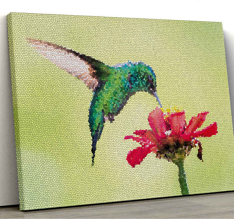 TenStickers. Colorful birds photo mosaic canvas. If you are looking to renew the look on your space, our colorful birds mosaic canvas prints would be a great idea for a transforming look.