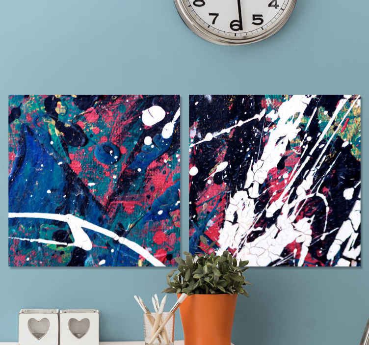 TenStickers. Abstract contemporary art framed wall art. Abstract contemporary art canvas wall art.  This canvas fit to decorate a living room, bedroom, office and guest space. Original and durable.