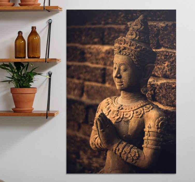 TenStickers. Buddha figure buddha wall canvas. Buddha figure canvas wall art. Lovely bhuda artwork canvas for home  and other places decoration. It is printed in high quality finish.
