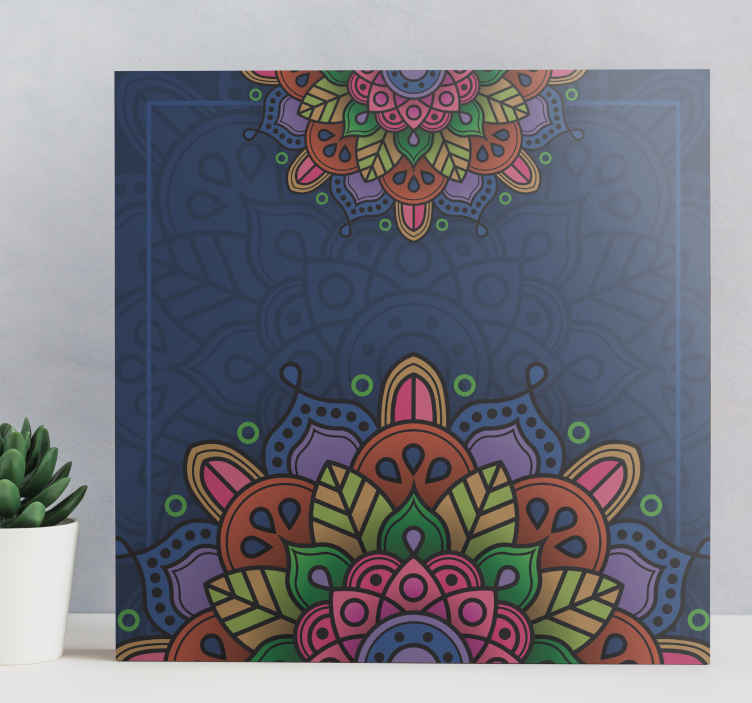 TenStickers. Colourful mandala print wall art. Amazing Mandala dijubo canvas print design! Decorate your home with modern and abstract canvas prints. This product comes super to your home.