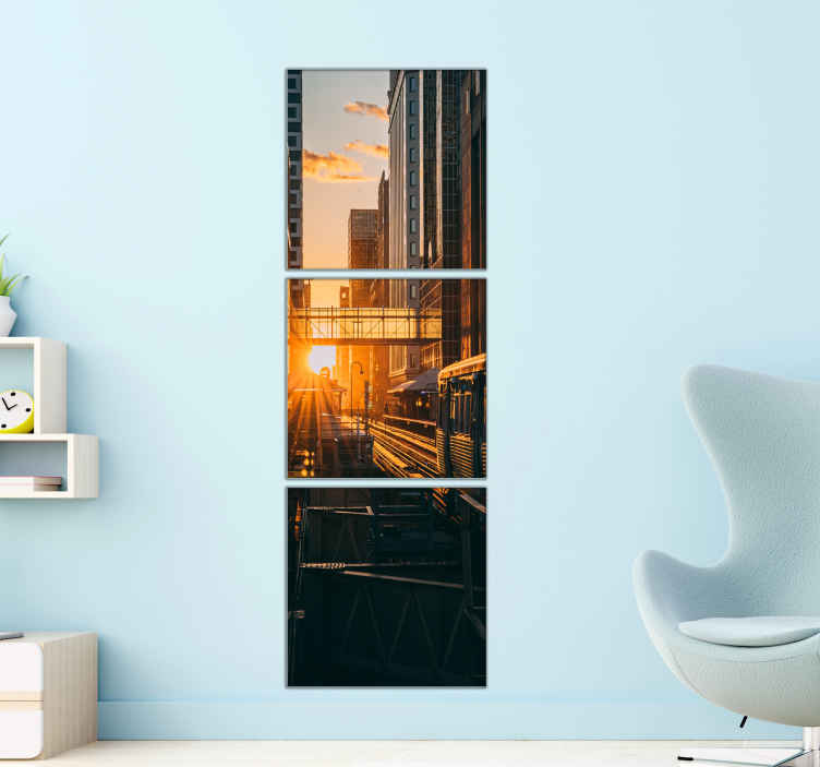 TenStickers. Modern landscapes canvas wall art. Modern city landscapes canvas print. Lovely to decorate any space in the home and for office decoration. The design is printed in quality finish.