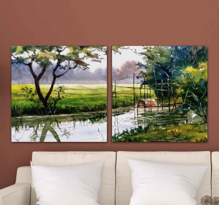 TenStickers. 自然景观帆布墙艺术. 自然景观帆布印花可装饰您房屋的任何部分。您会喜欢此画布在您的空间上使用的,它既新颖又耐用。