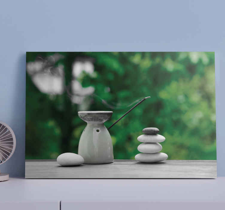 TenStickers. Zen bathroom zen canvas wall art. Transform your space with a mediation and calm aura with this Zen stack stone canvas art prints. A brilliant idea for  bathroom decoration.