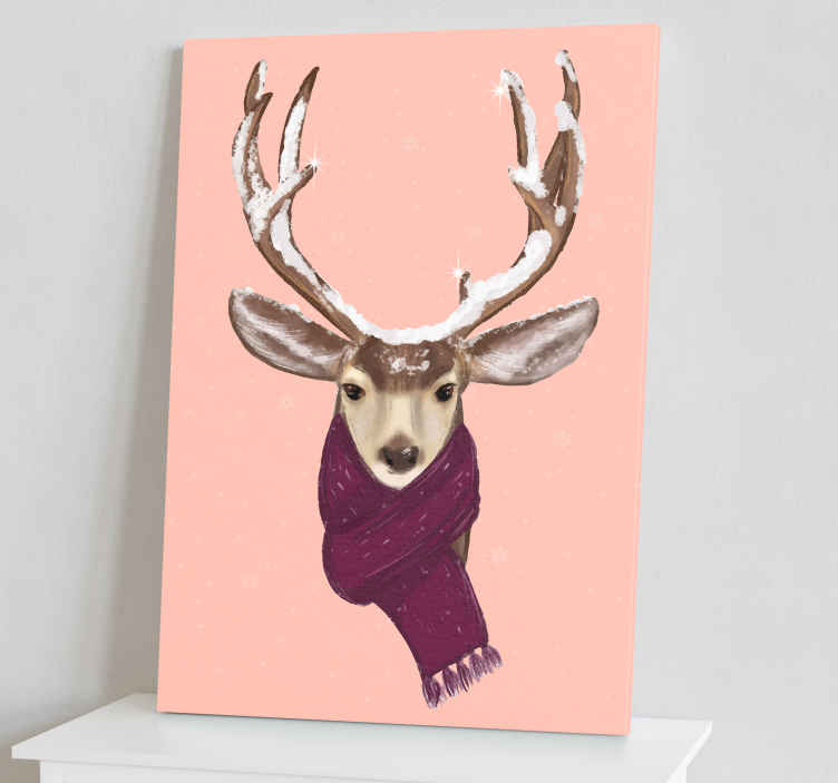 TenStickers. Christmas deer Stag canvas prints. Christmas deer stag animal canvas to decorate your home for Christmas. The design is lovely and printed with quality finish.